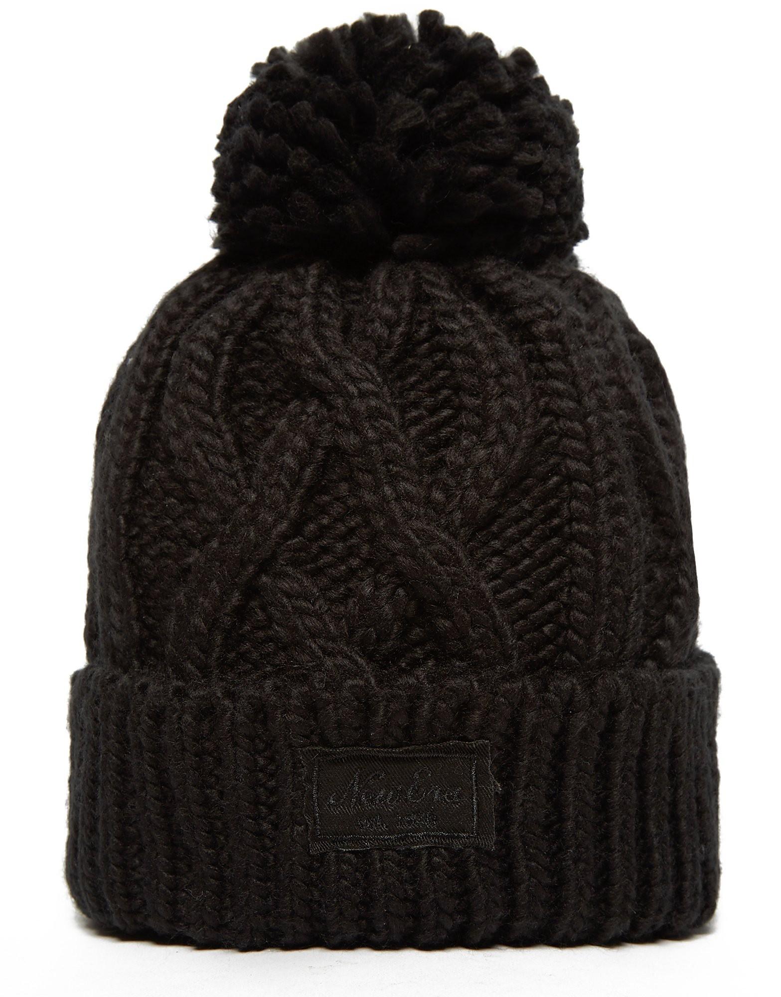New Era Patch Pom Pom Beanie Hat
