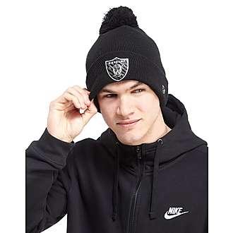 New Era NFL Liquidchrome Oakland Raider Pom Pom Beanie