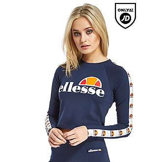 Ellesse Longsleeve Crop T-Shirt