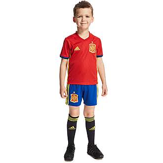 adidas Spain 2016 Home Kit Children