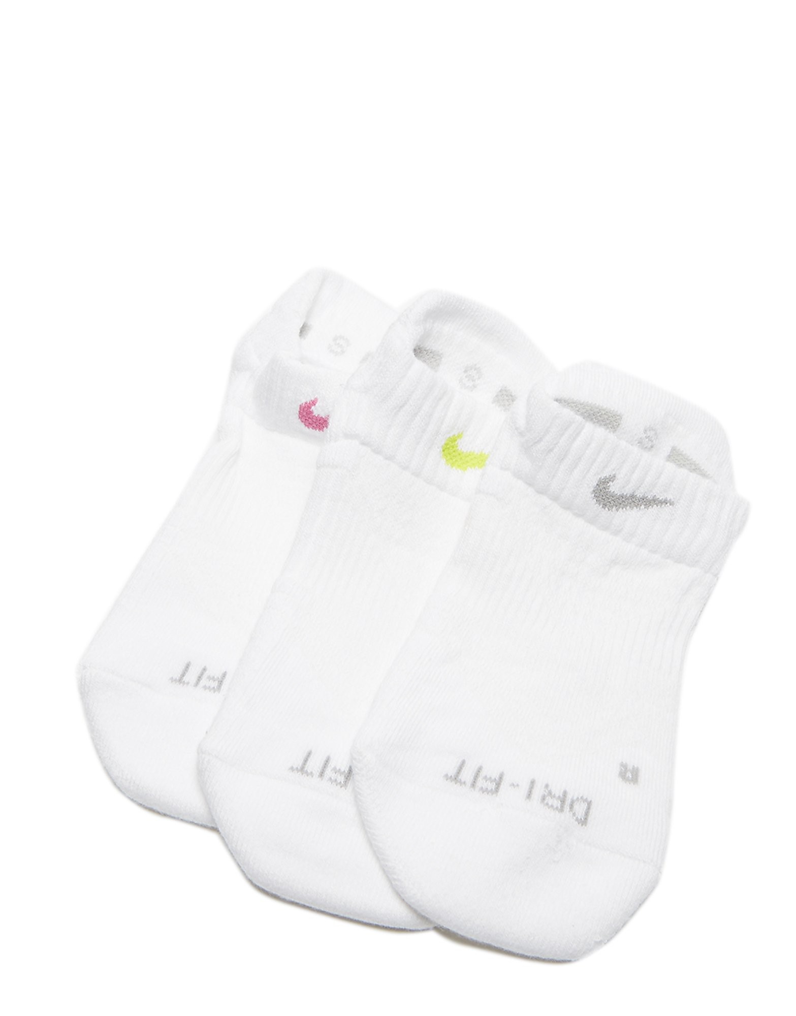 Nike 3 Pack Dri-FIT No-Show Socks