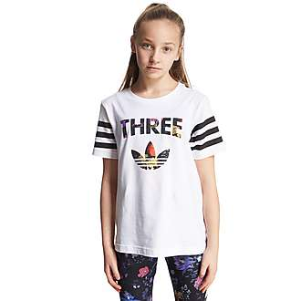 adidas Originals Girls' Basketball Three T-Shirt Junior