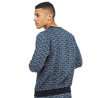 adidas Originals Trefoil Fleece Denim Crew Sweatshirt