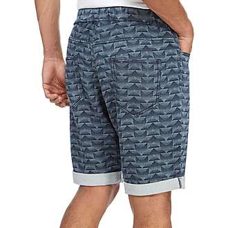 adidas Originals Trefoil Fleece Denim Shorts