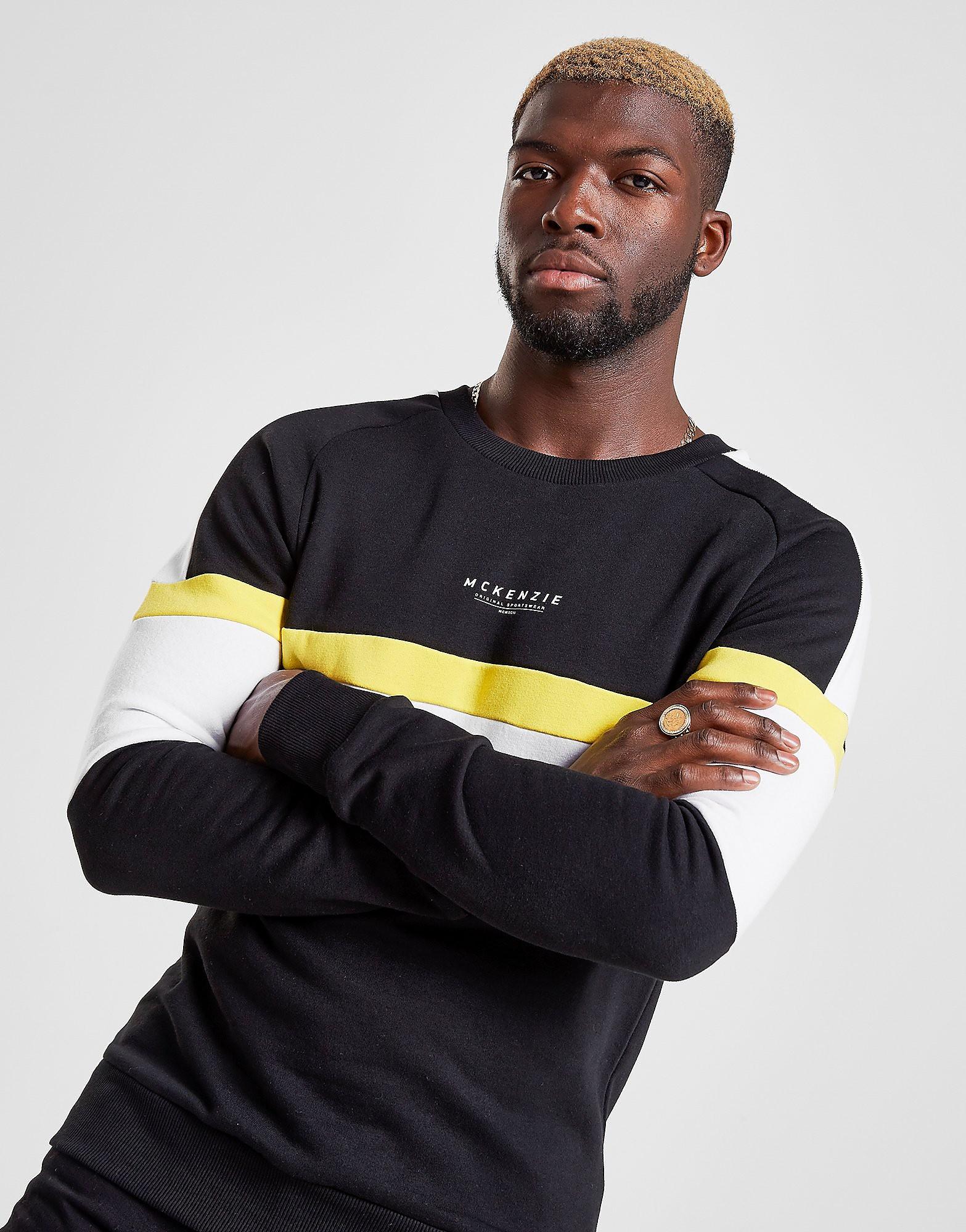 McKenzie Justin Crew Sweatshirt - alleen bij JD - Zwart - Heren