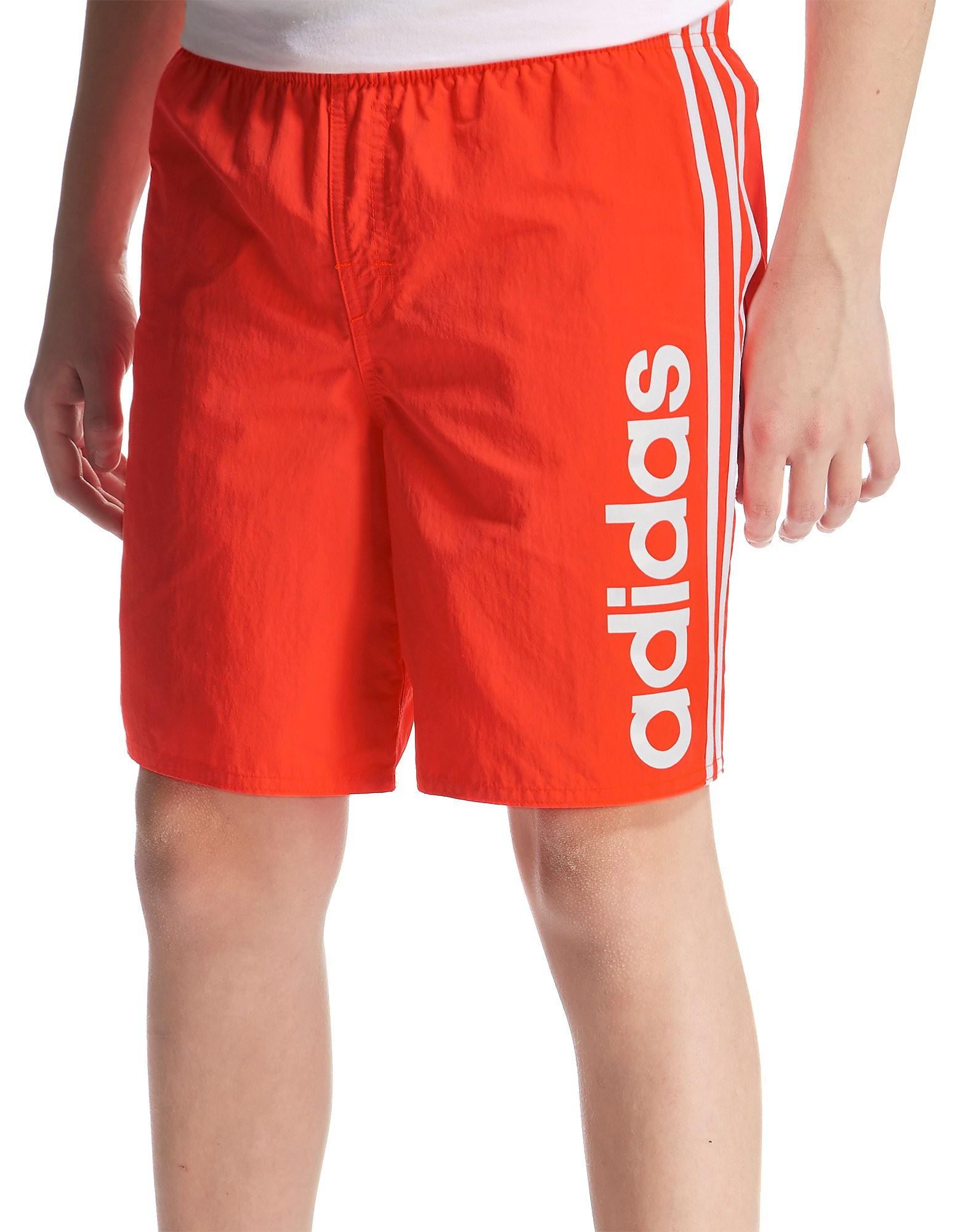 d422c2ed43 adidas Linear Swim Short Junior - Solar Red/White - Kids - Sports ...