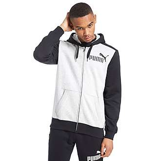 PUMA Mesh Logo Full Zip Hoody