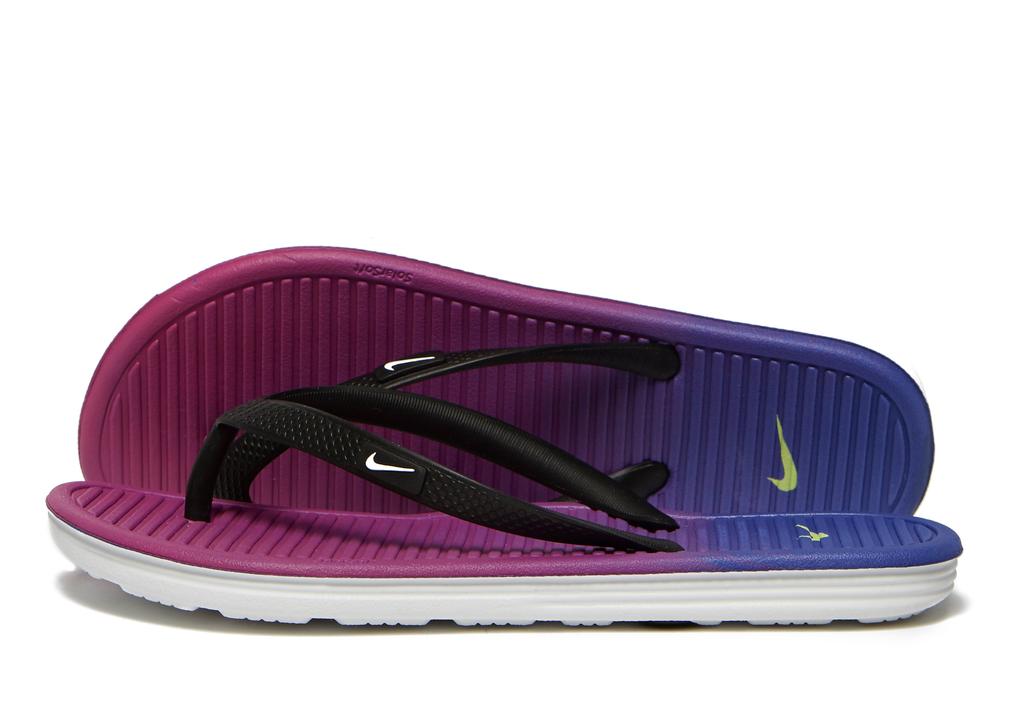 3d3408c04 Nike Solarsoft 2 Flip Flops Children - Hot Pink Total Orange Black - Kids -  Sports King Store