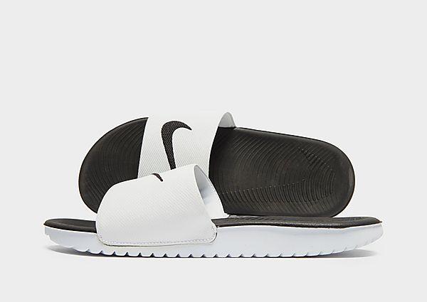 Comprar deportivas Nike chanclas Kawa júnior, White/Black
