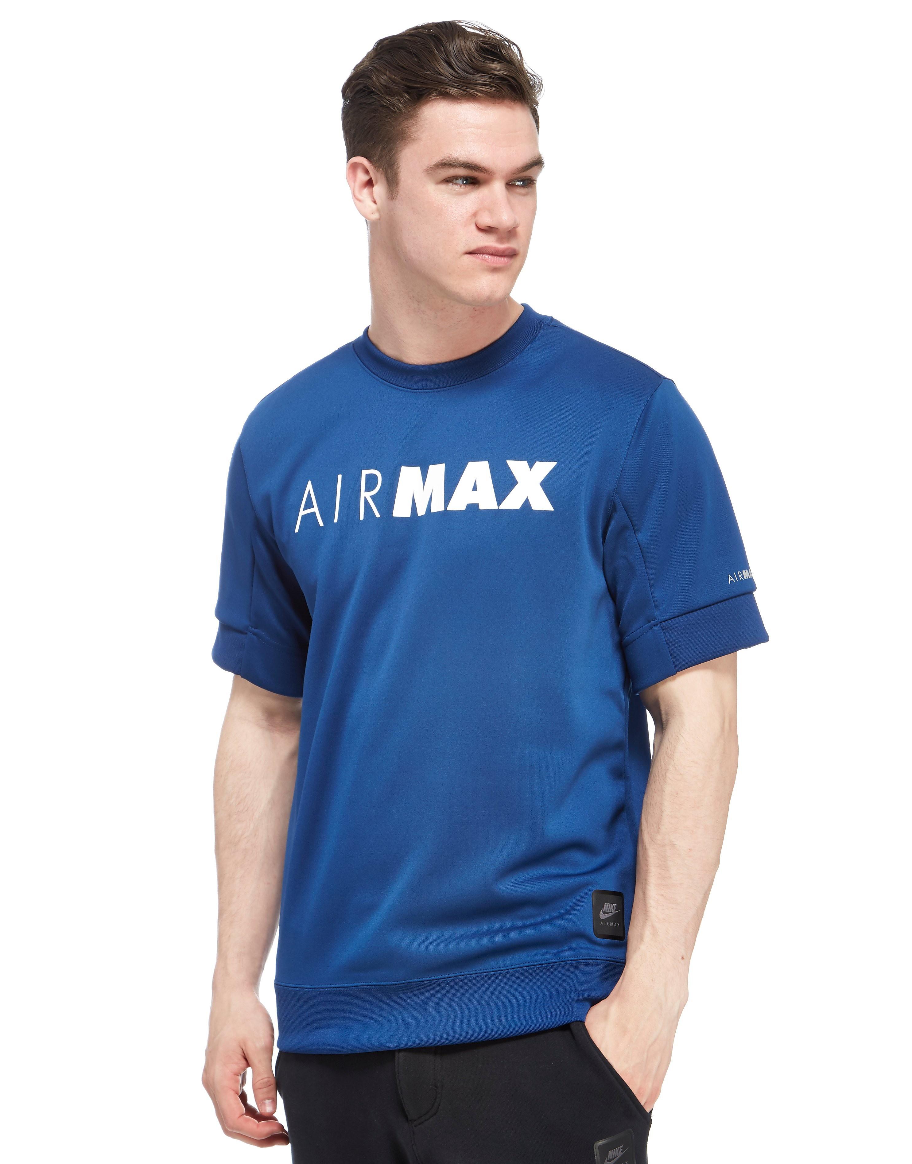 Nike Air Max Short Sleeve Sweatshirt BlueWhite Mens