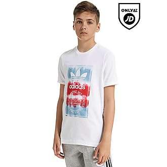 adidas Originals Tongue Tie Dye T-Shirt Junior
