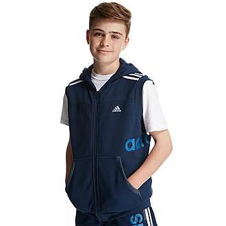 adidas Linear Sleeveless Hoody - Junior