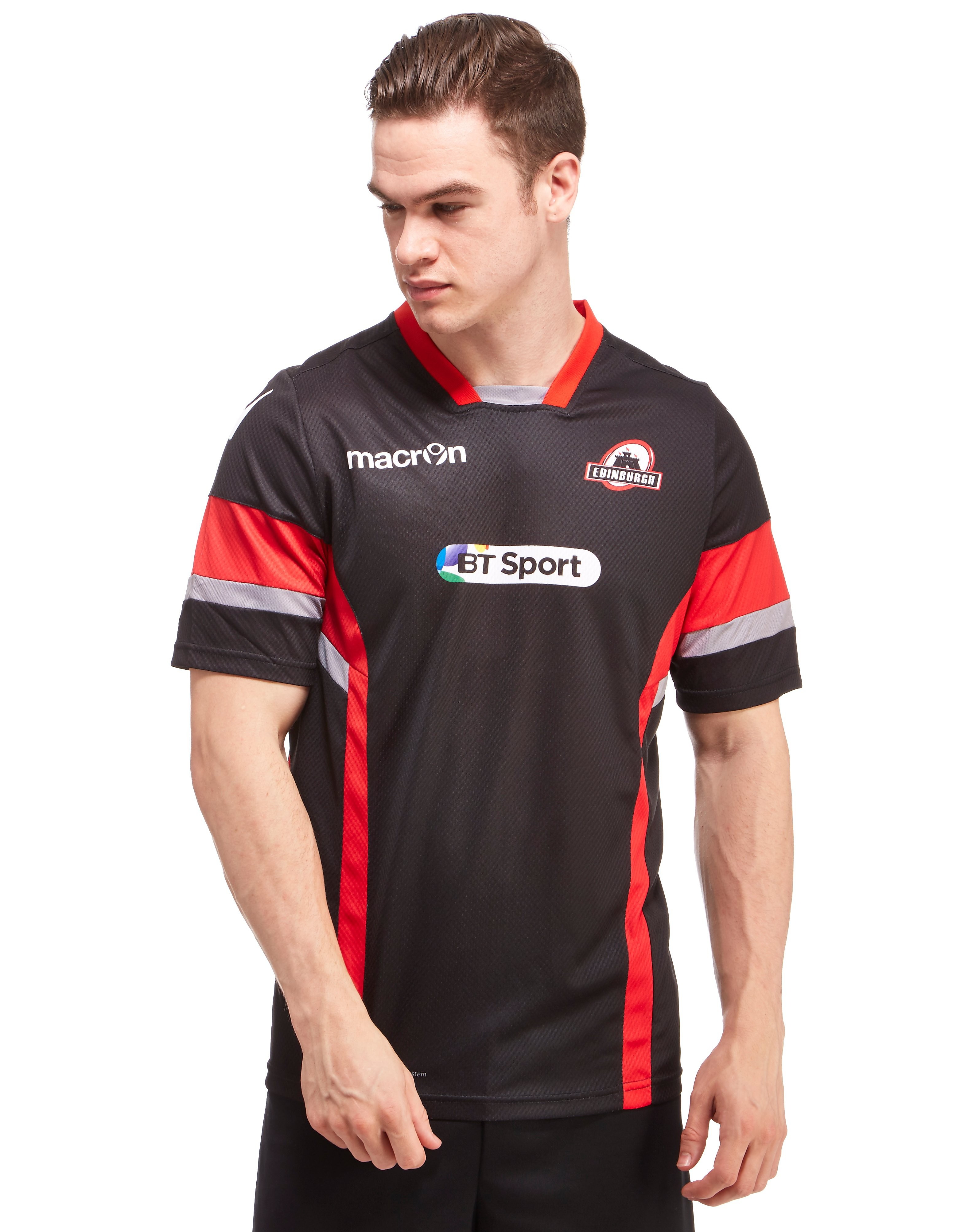 Macron Edinburgh Rugby Poly Short Sleeve T-Shirt
