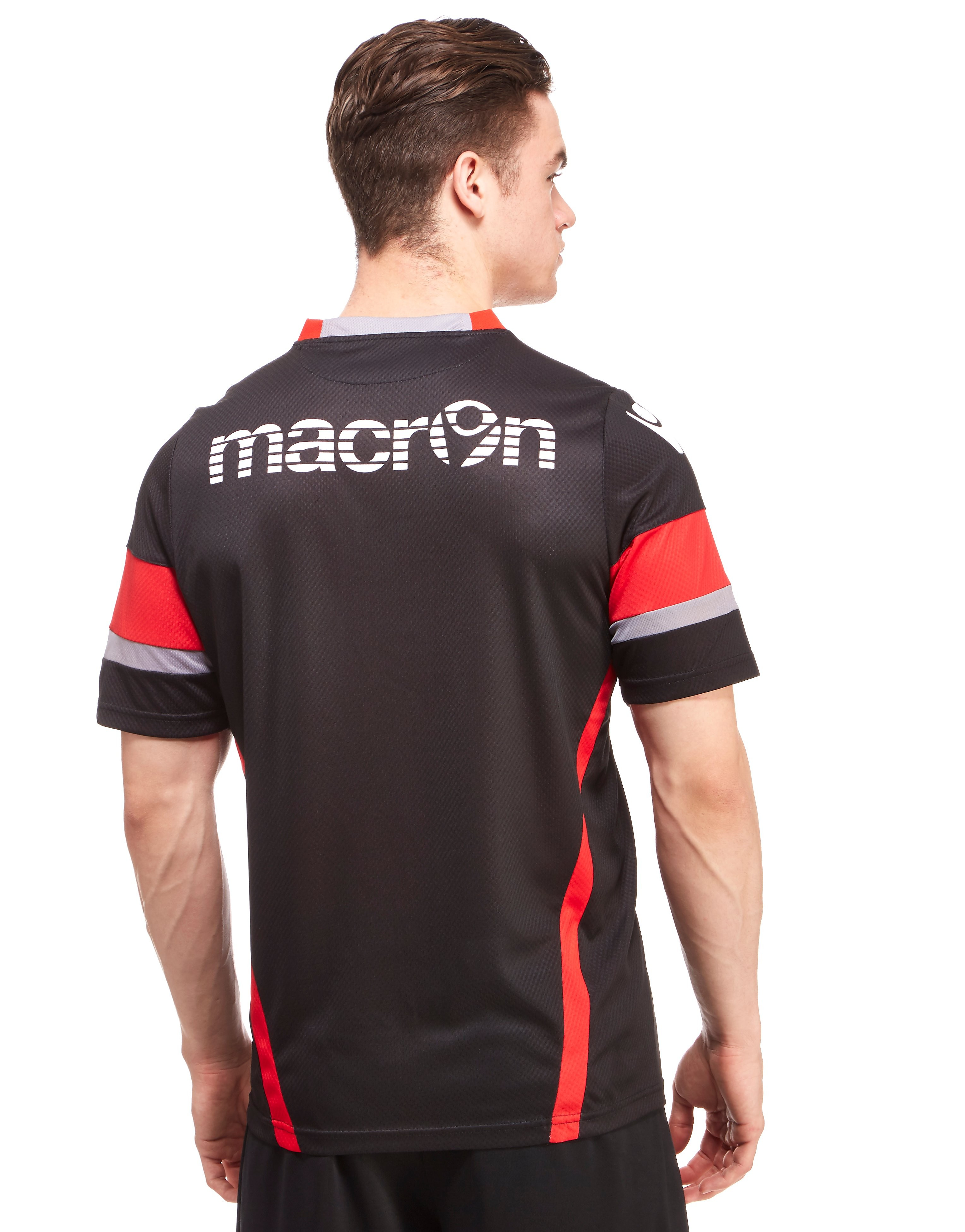 Macron Edinburgh Rugby Poly Short Sleeve T-Shirt