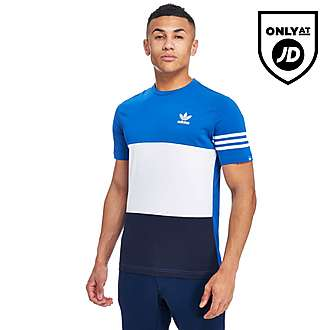 adidas Originals Trefoil 3-Stripe Panel T-Shirt