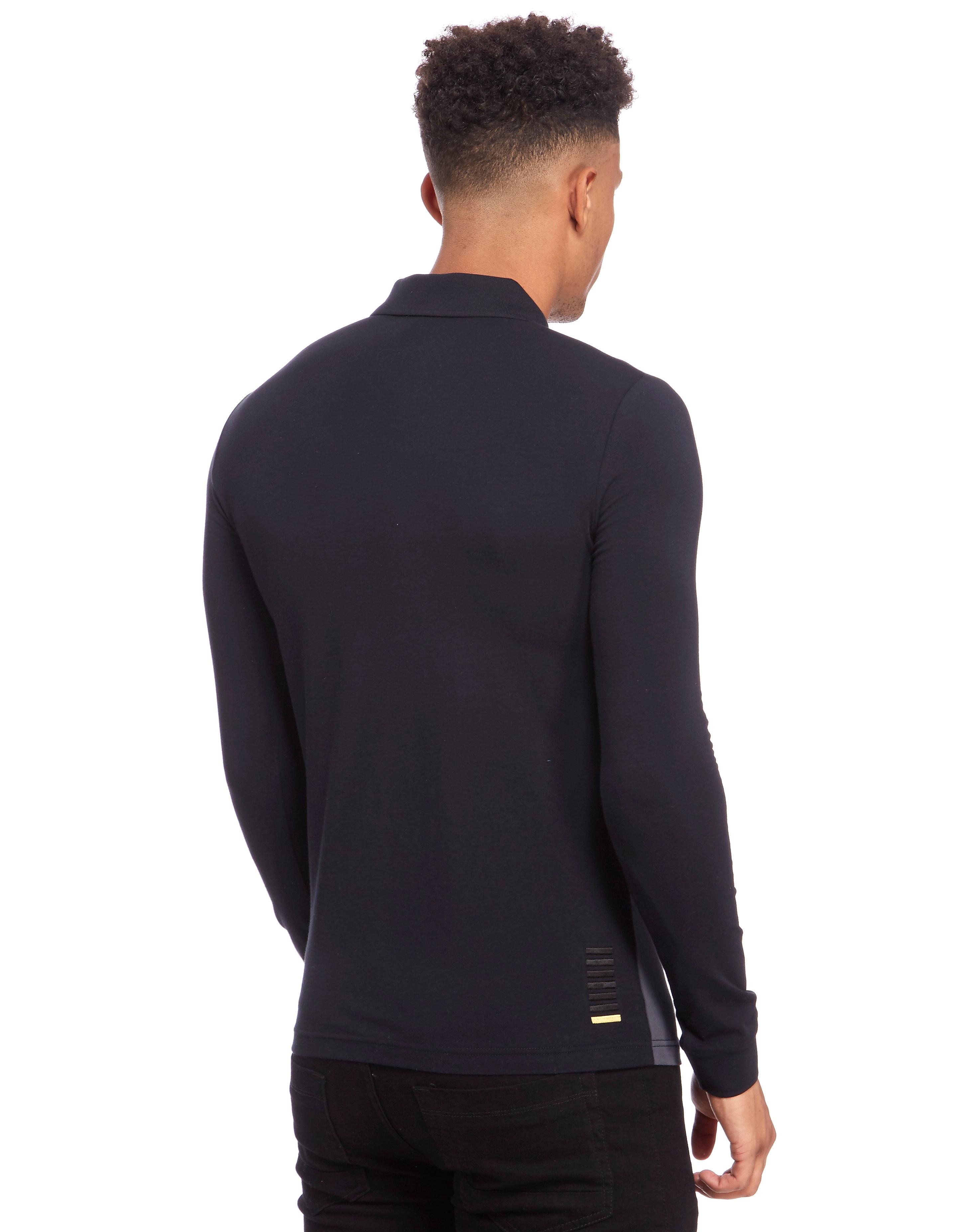 Emporio Armani EA7 Panel Block Longsleeve Polo Shirt