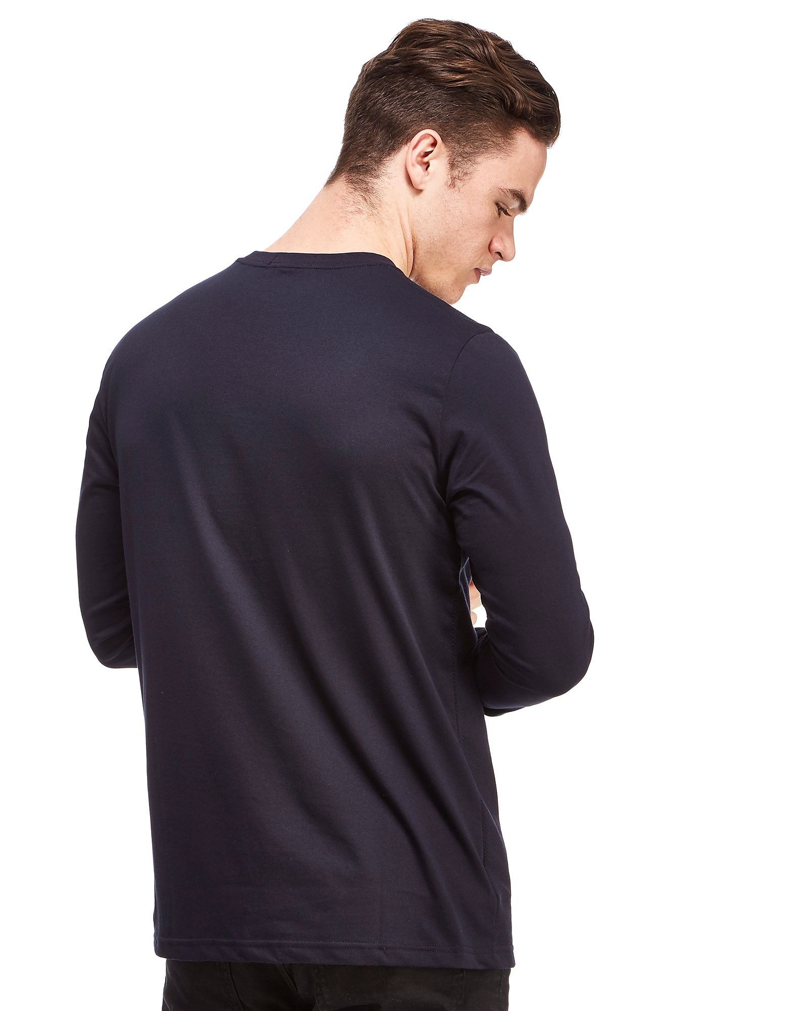 Fred Perry Textured Pique Long Sleeve T-Shirt