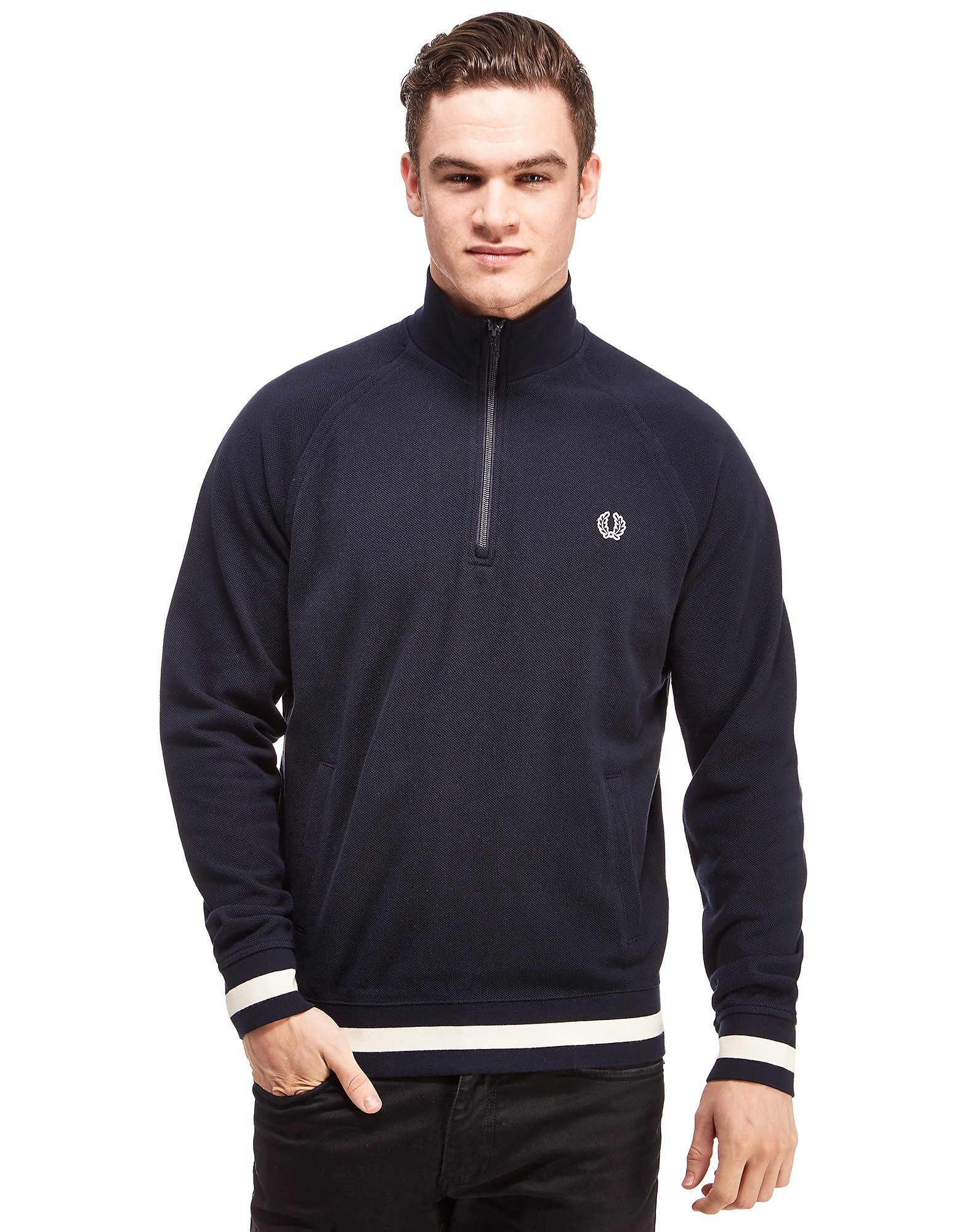 Fred Perry SA Pique 1/4 Zipped Sweatshirt