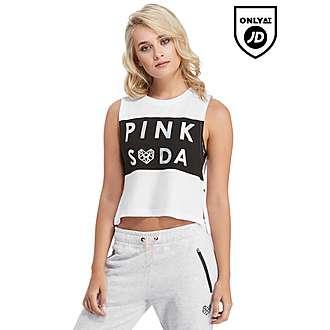 Pink Soda Sport Crop Tank Top