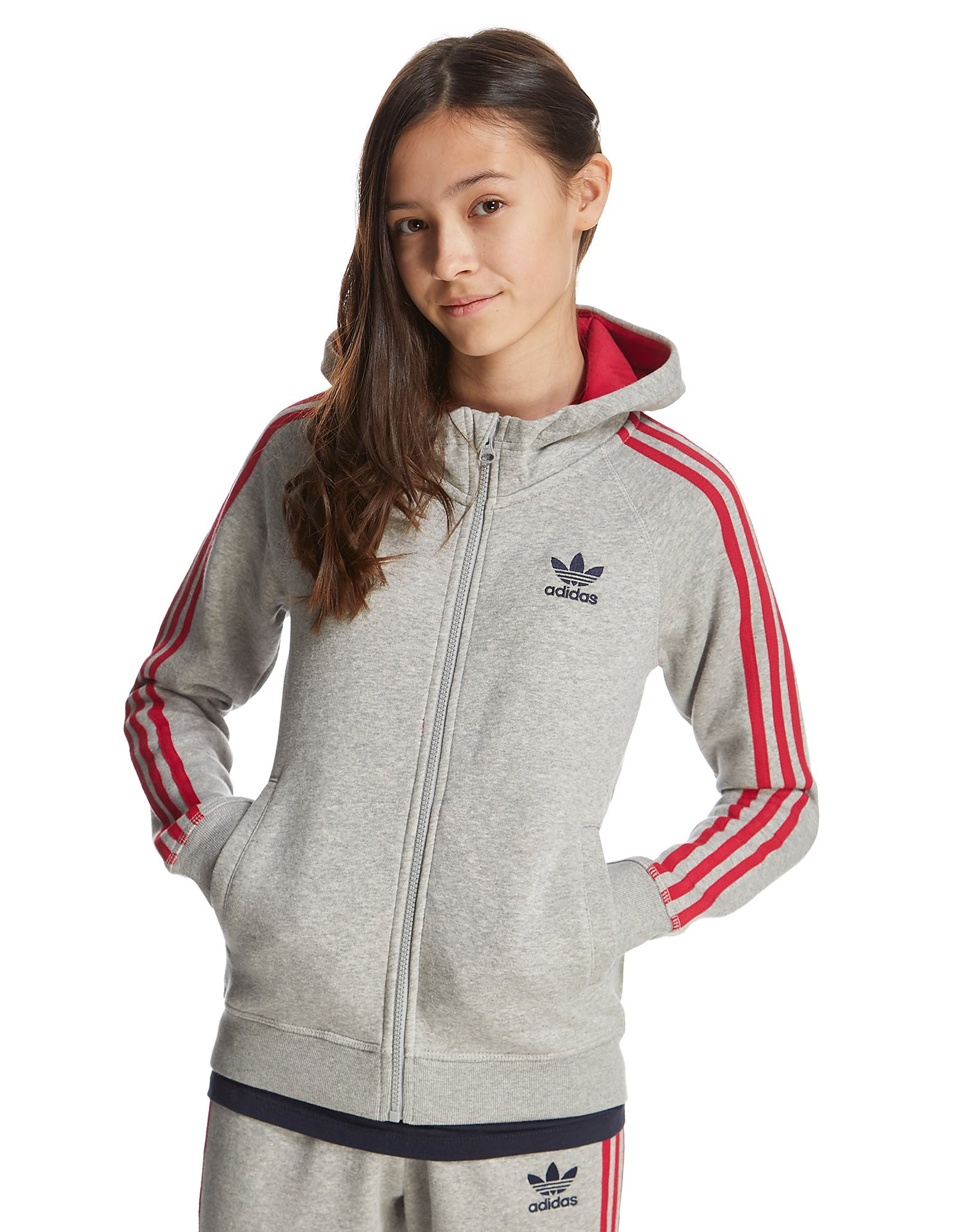 adidas Originals Girls' Super Full Zip Hoodie Junior