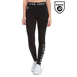 Pink Soda Sport Contrast Fabric Lifestyle Leggings