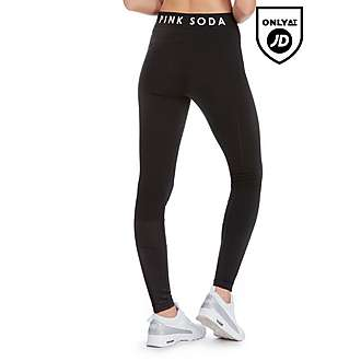 Pink Soda Sport Contrast Fabric Lifestyle Leggings