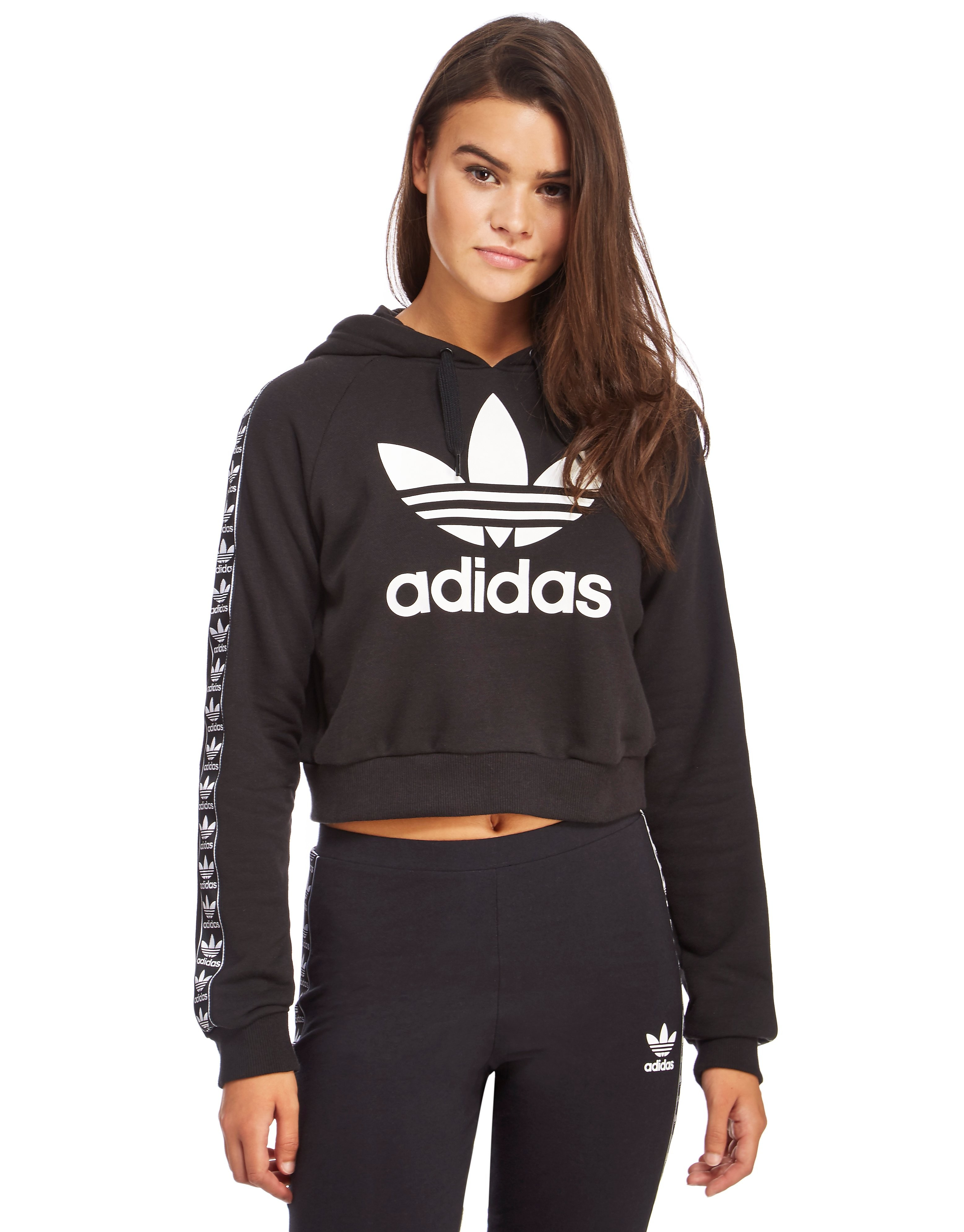 adidas Originals Tape Crop Overhead Hoody