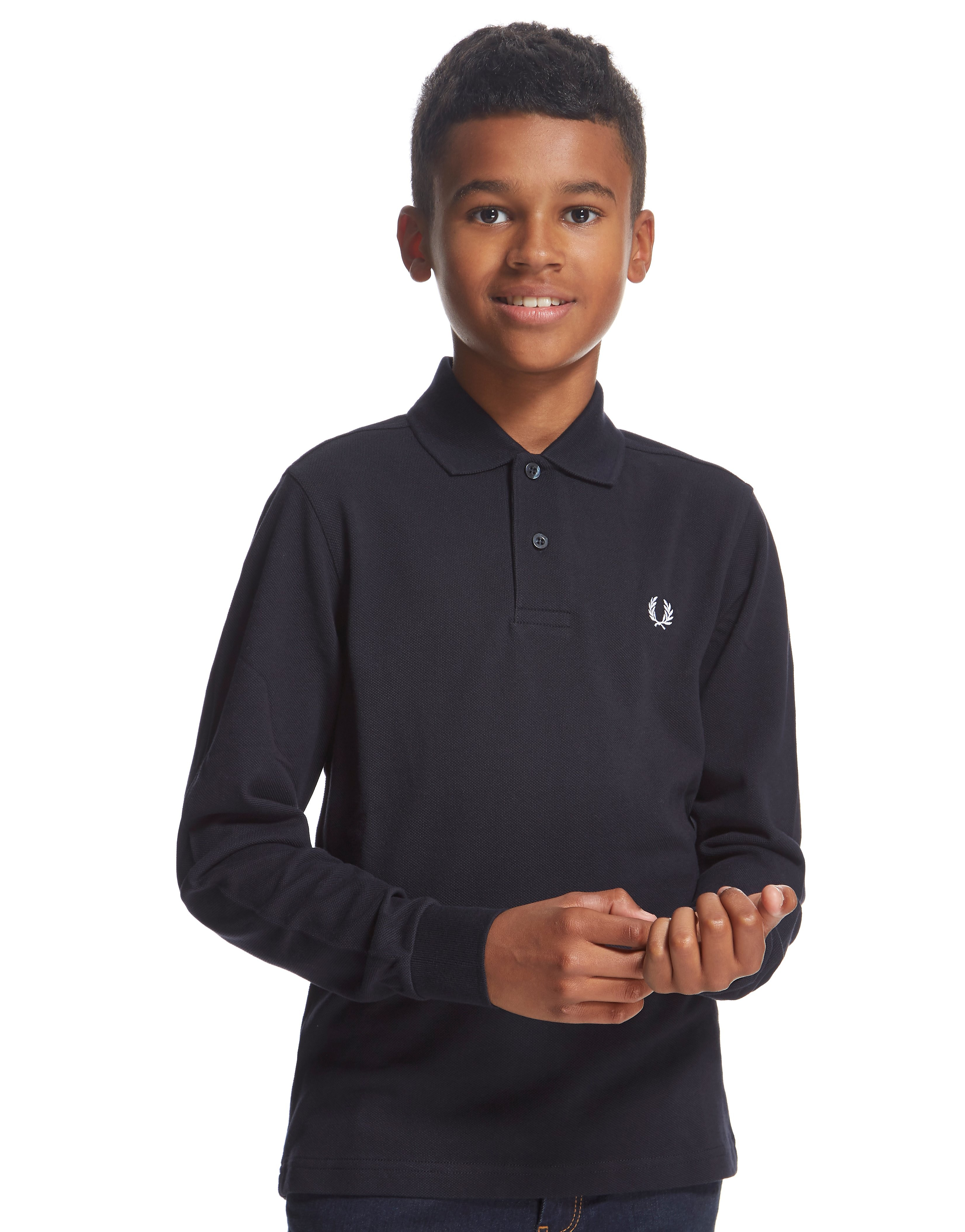 Fred Perry Long Sleeve Polo Shirt Junior