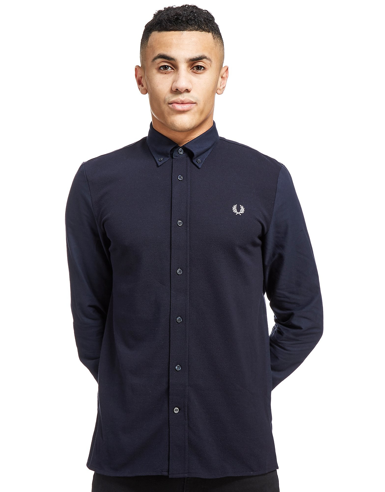 Fred Perry Textured Long Sleeve Shirt