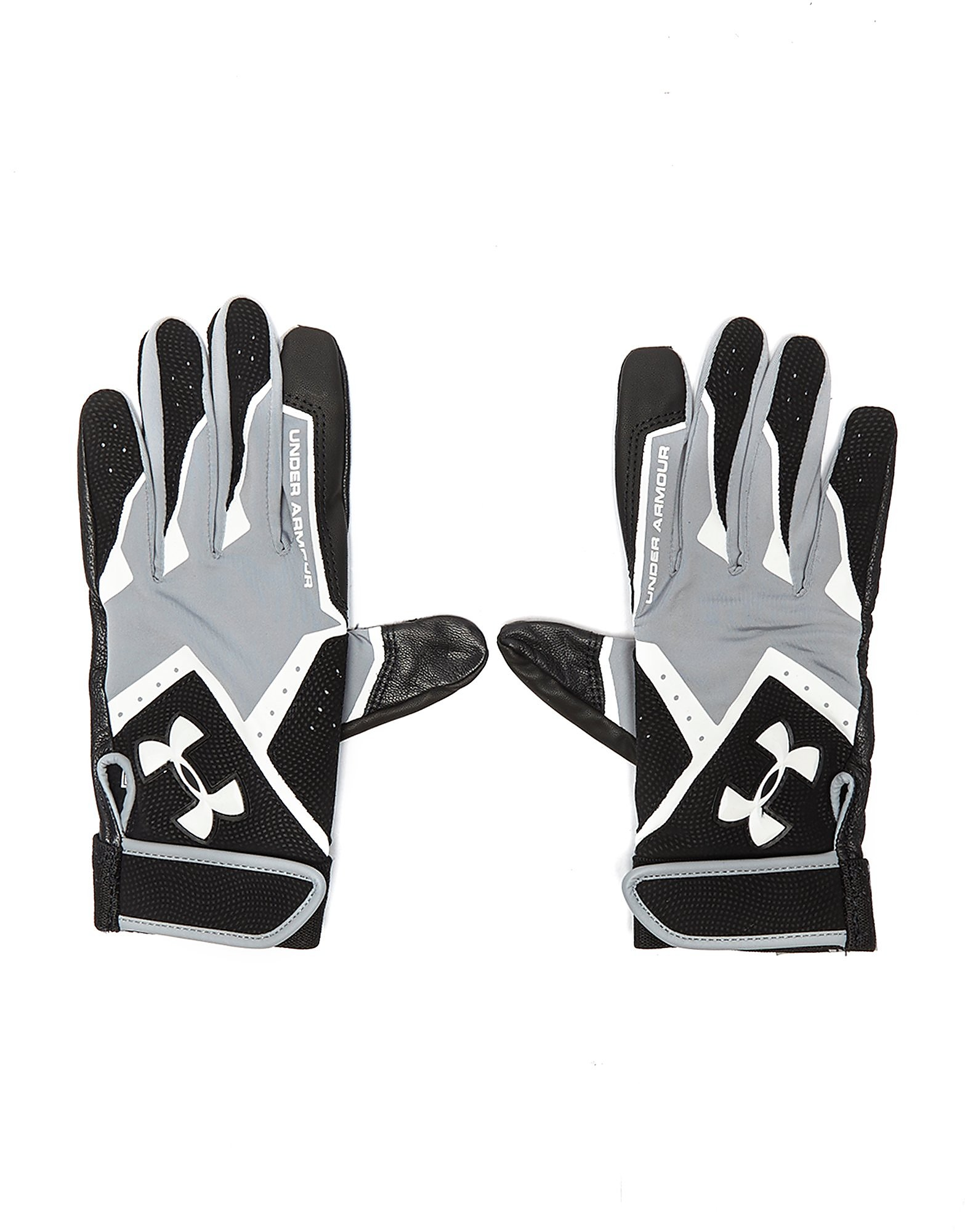 Leather gloves mens jd - Under Armour Clean Up Batting Gloves Black Grey White Mens Black Grey White