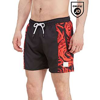 Supply & Demand Rose Side Swim Shorts
