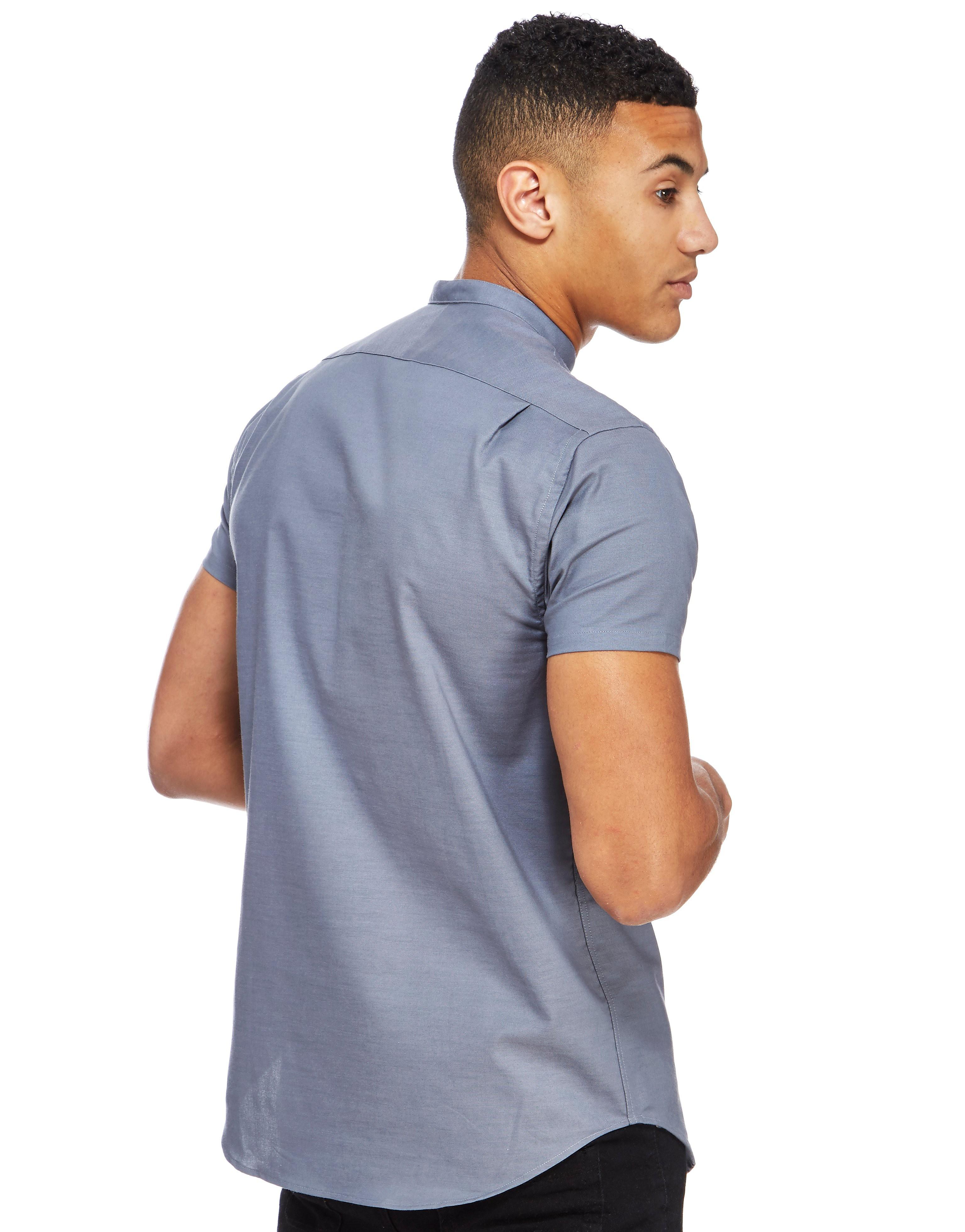 SikSilk Grandad Collar Shirt