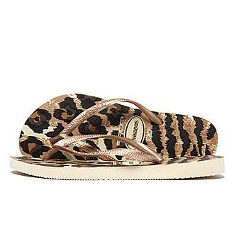 Havaianas Slim Animal Gold Flip Flops Women's