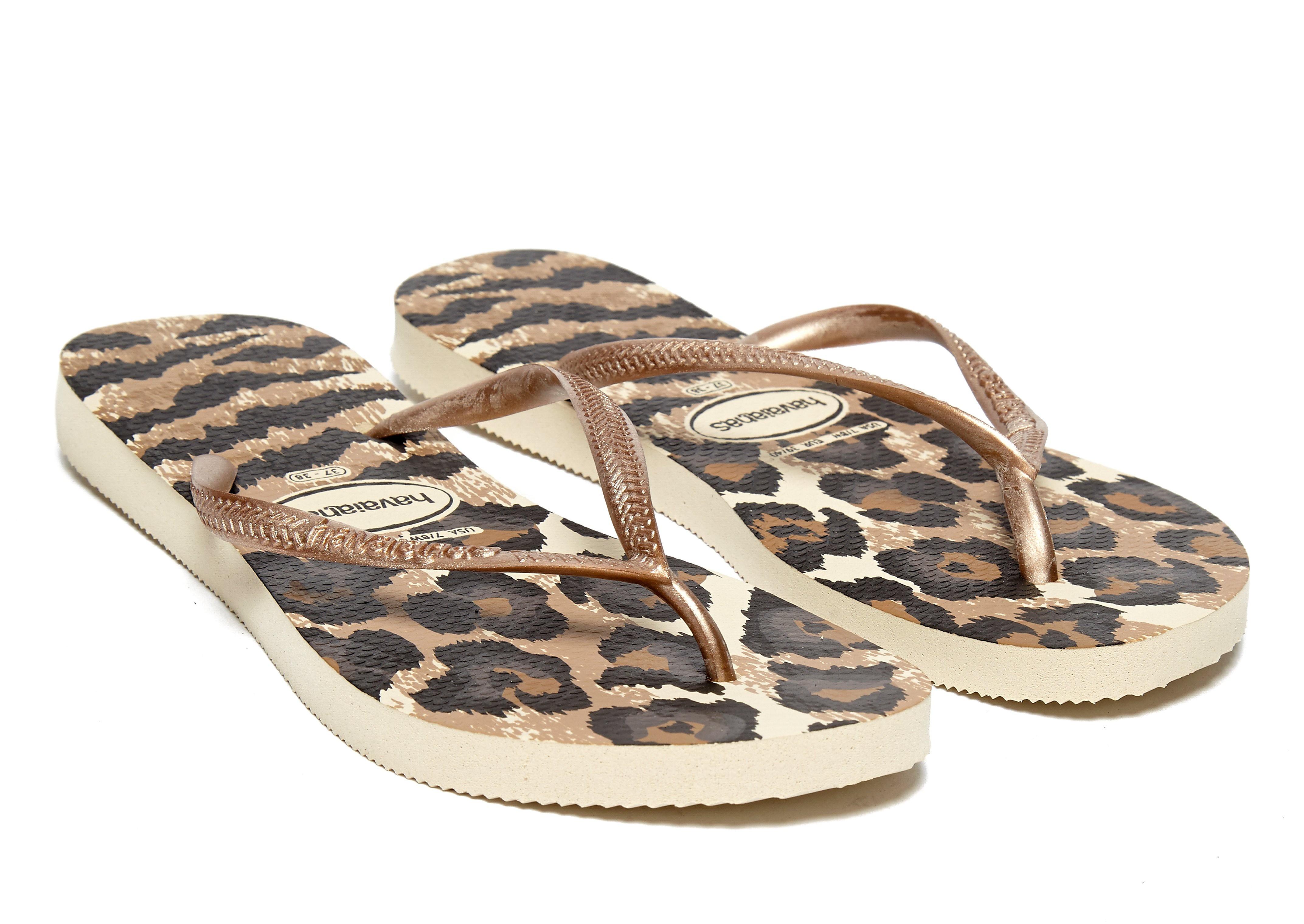 Havaianas Slim Animal Gold Flip Flops Women's