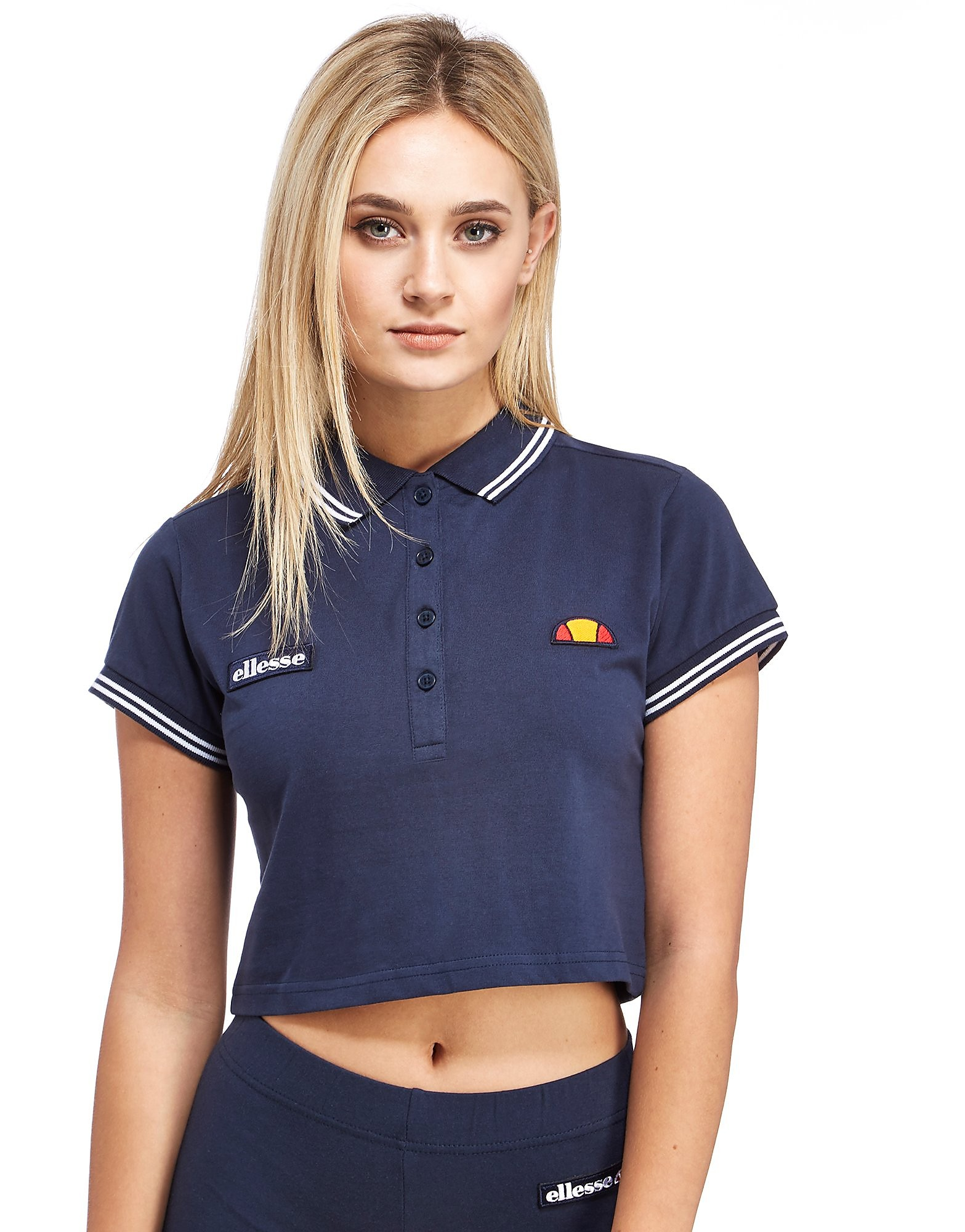 Ellesse Crop Polo Shirt