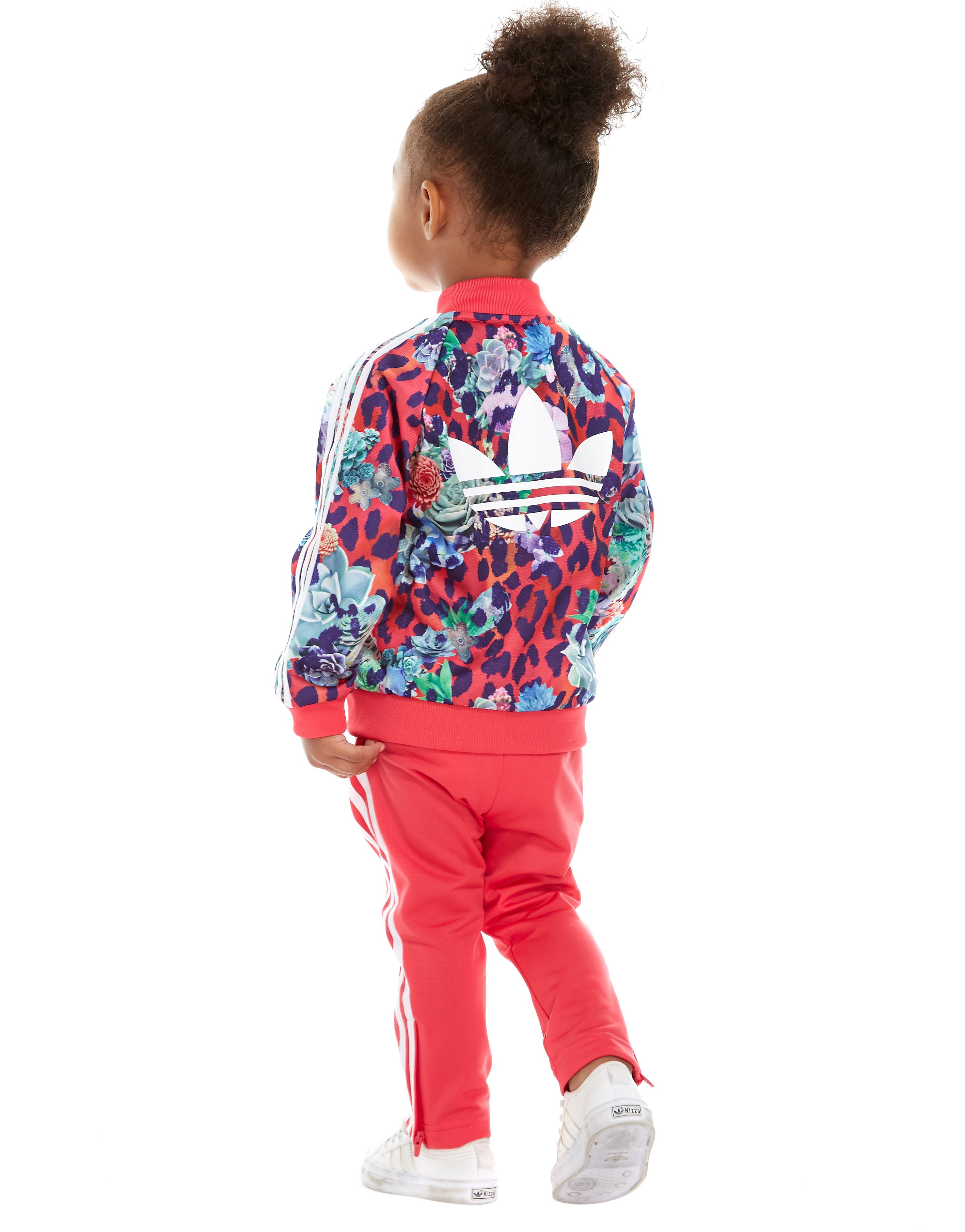 adidas Originals Girls' FARM All-Over Print Suit Infant