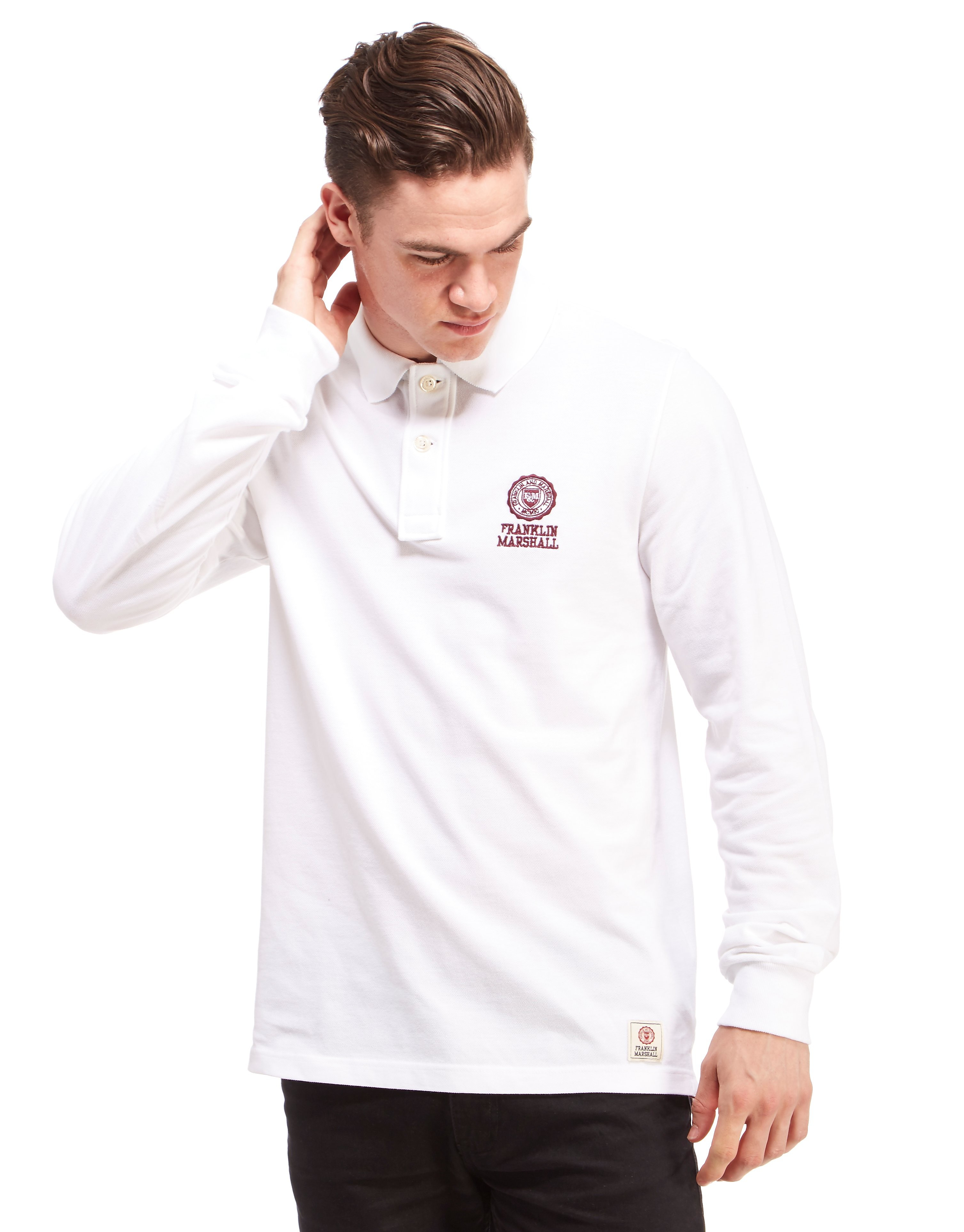 Franklin & Marshall Seal Stack Pique Polo Shirt