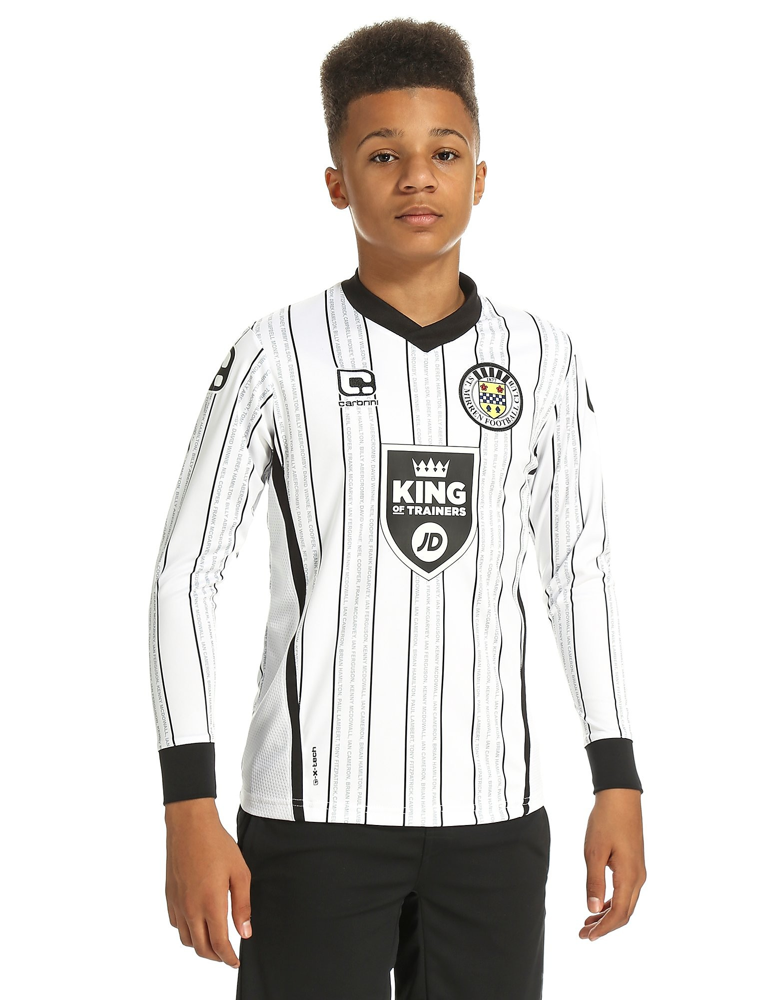Carbrini St Mirren FC 2016/17 Home LS Shirt Jnr PRE ORDER