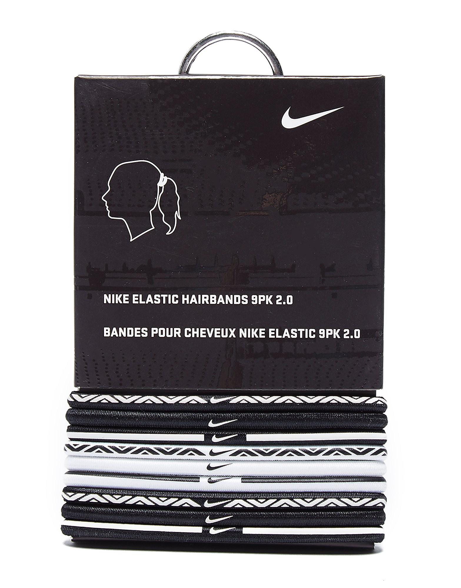 Nike 9 Pack Elastic Hairbands - Wit - Dames