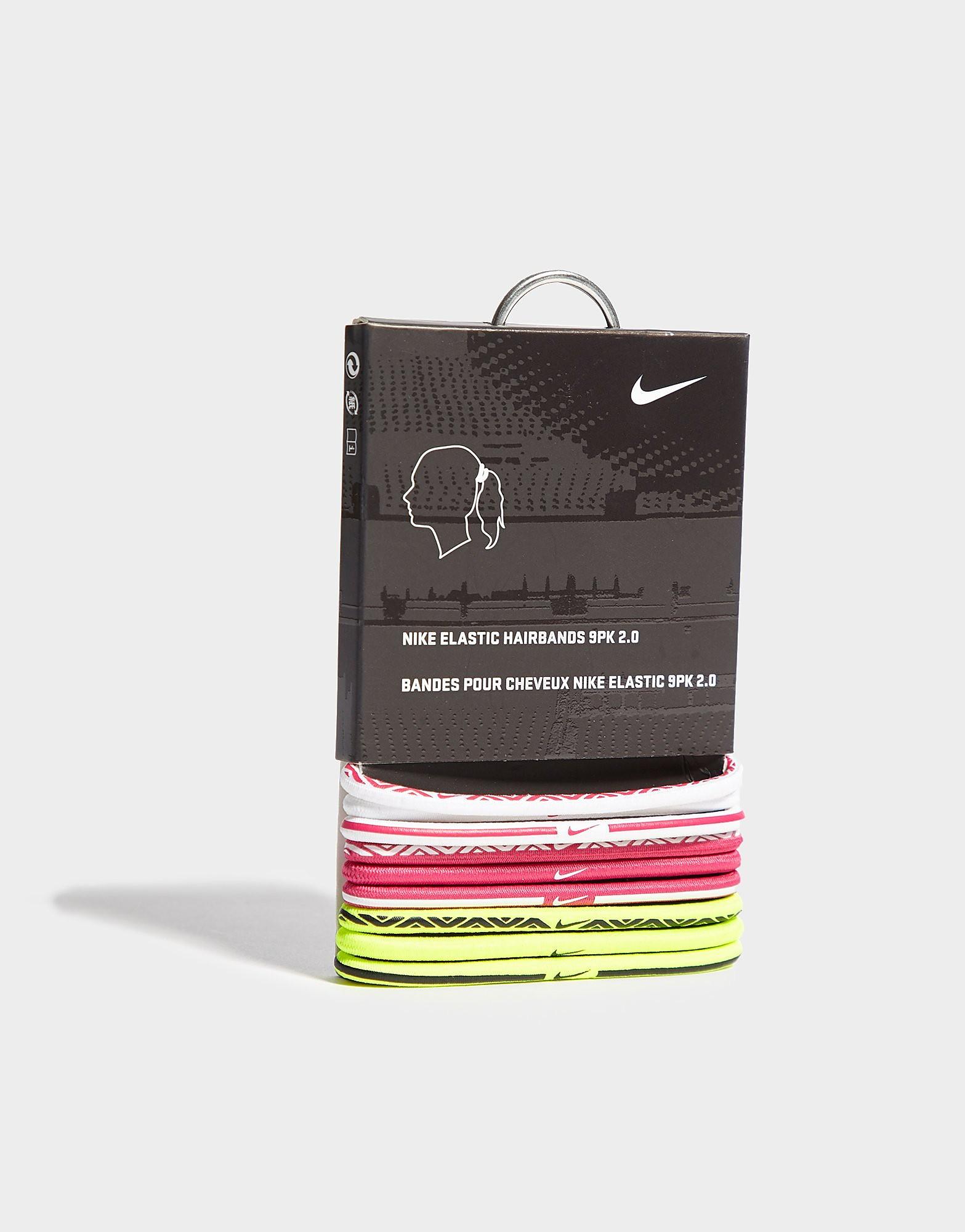 Nike 9 Pack Elastic Hairbands - Roze - Dames