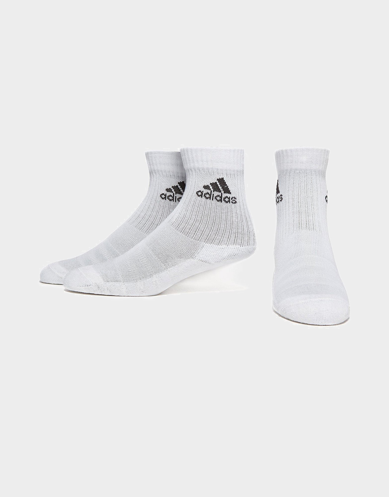 Image of   adidas 3 Stripe Performance Crew 3 Pack Socks
