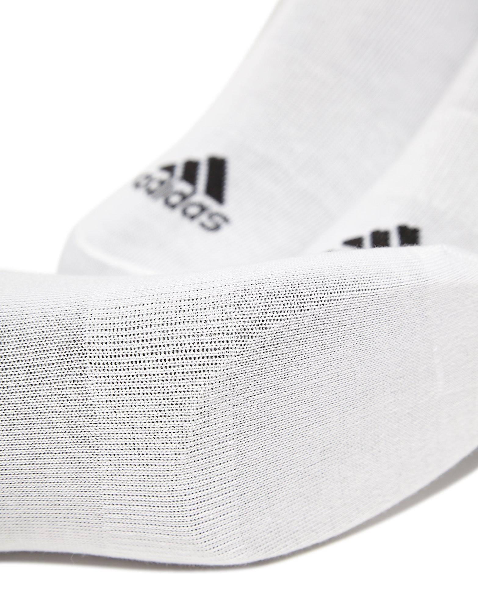 adidas Three Pack No Show Thin Socks Junior