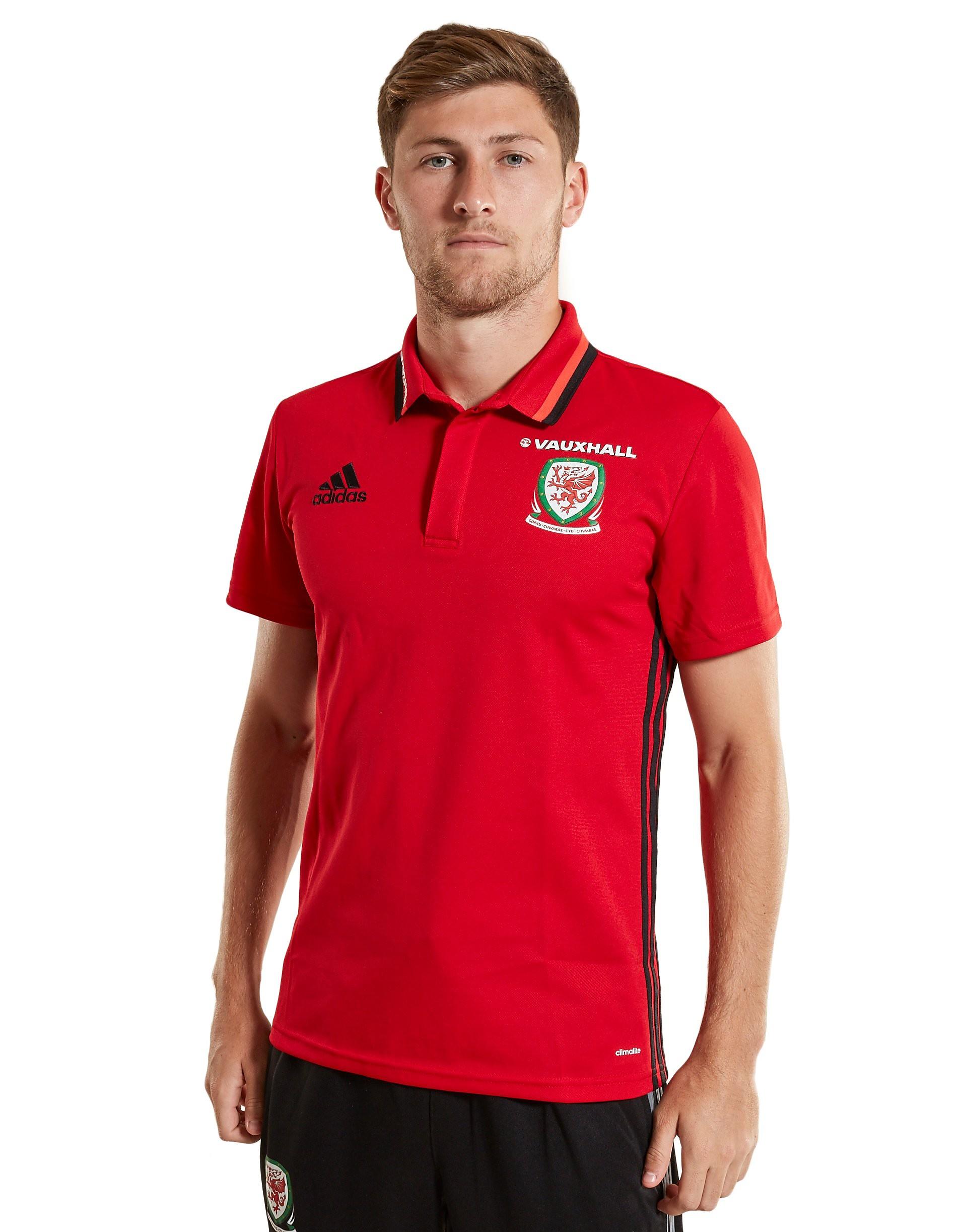 adidas Wales 2016/17 Climalite-poloshirt - Rood - Heren