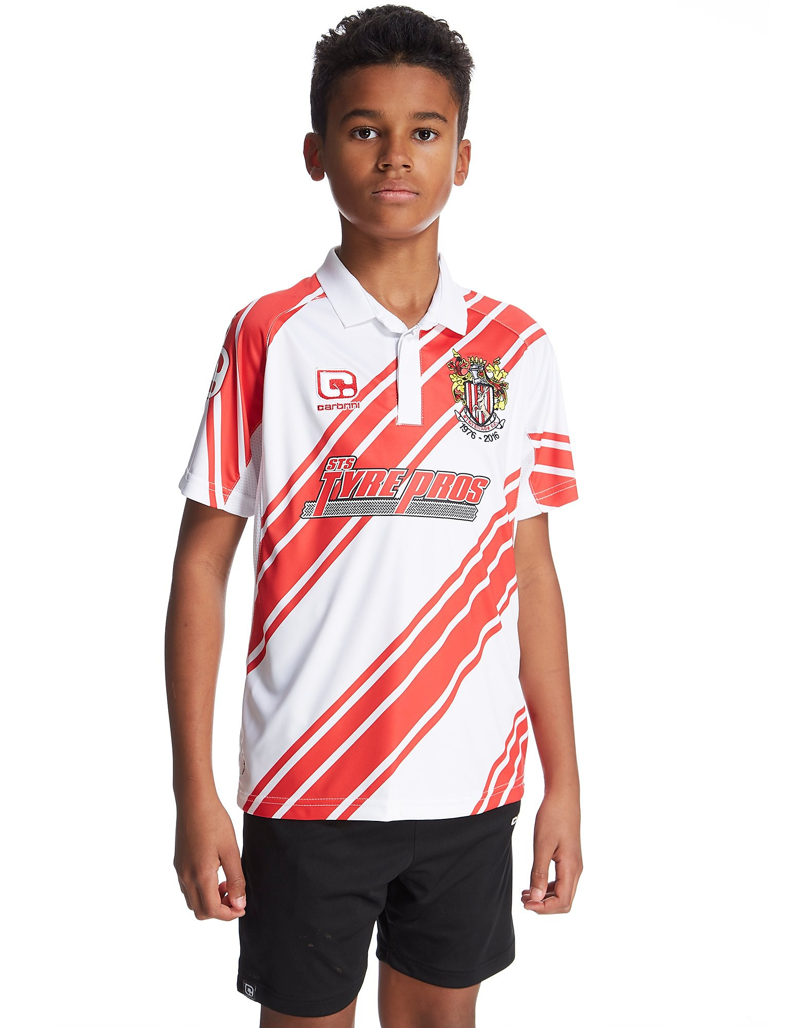 Carbrini Stevenage FC 2016/17 Heimtrikot für Kinder