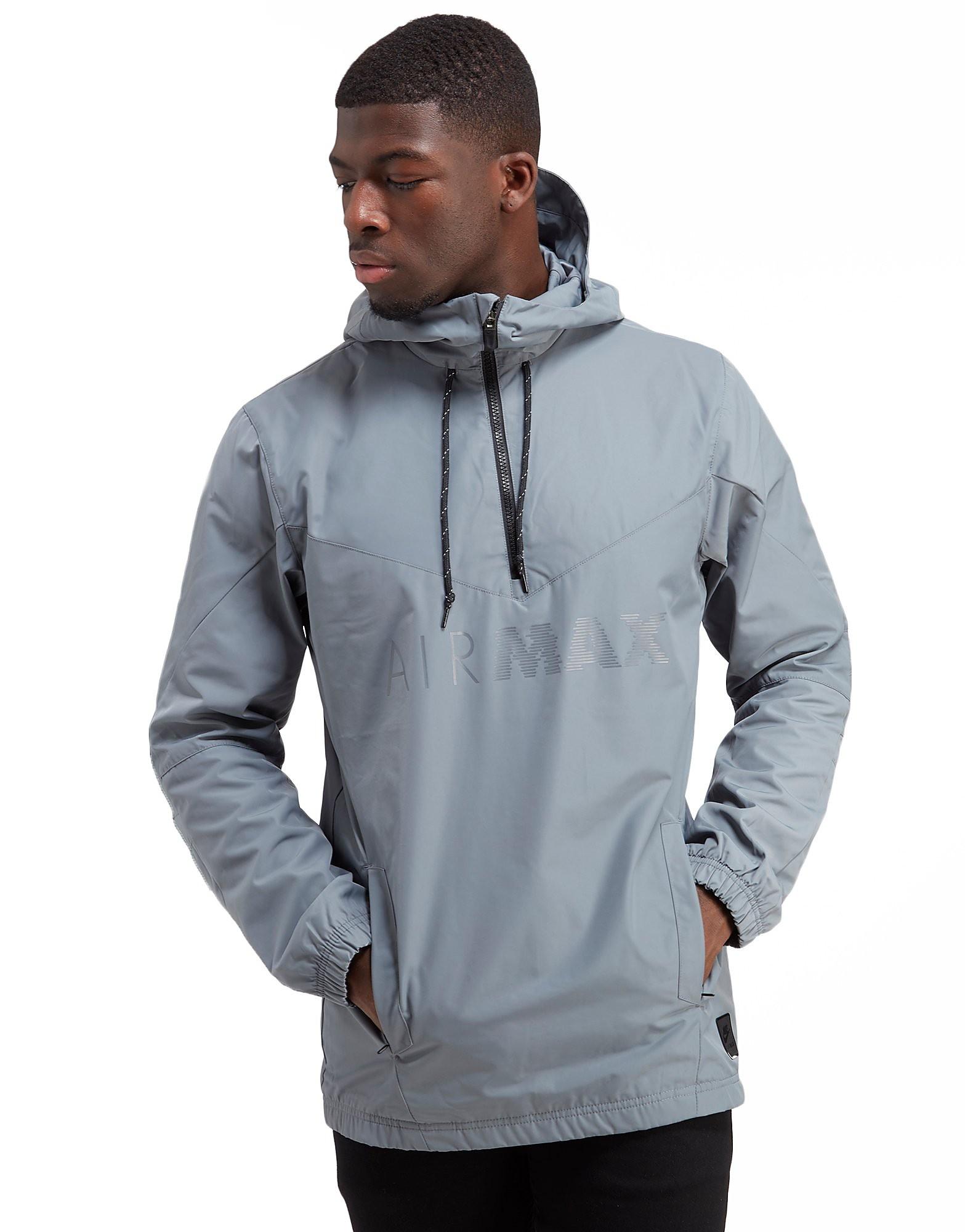 nike air max half zip chevron jacket grey mens. Black Bedroom Furniture Sets. Home Design Ideas