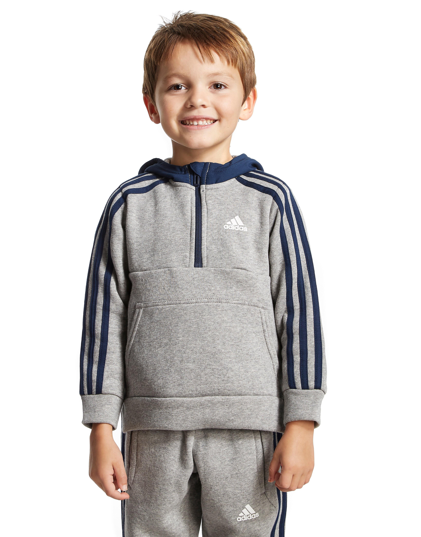 adidas Linear Hoodie mit halbem Reißverschluss für Kinder