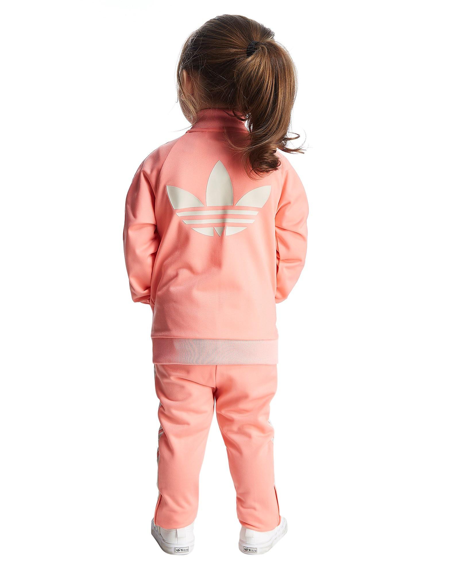 adidas Originals Girls' Superstar Poly Tracksuit Infant