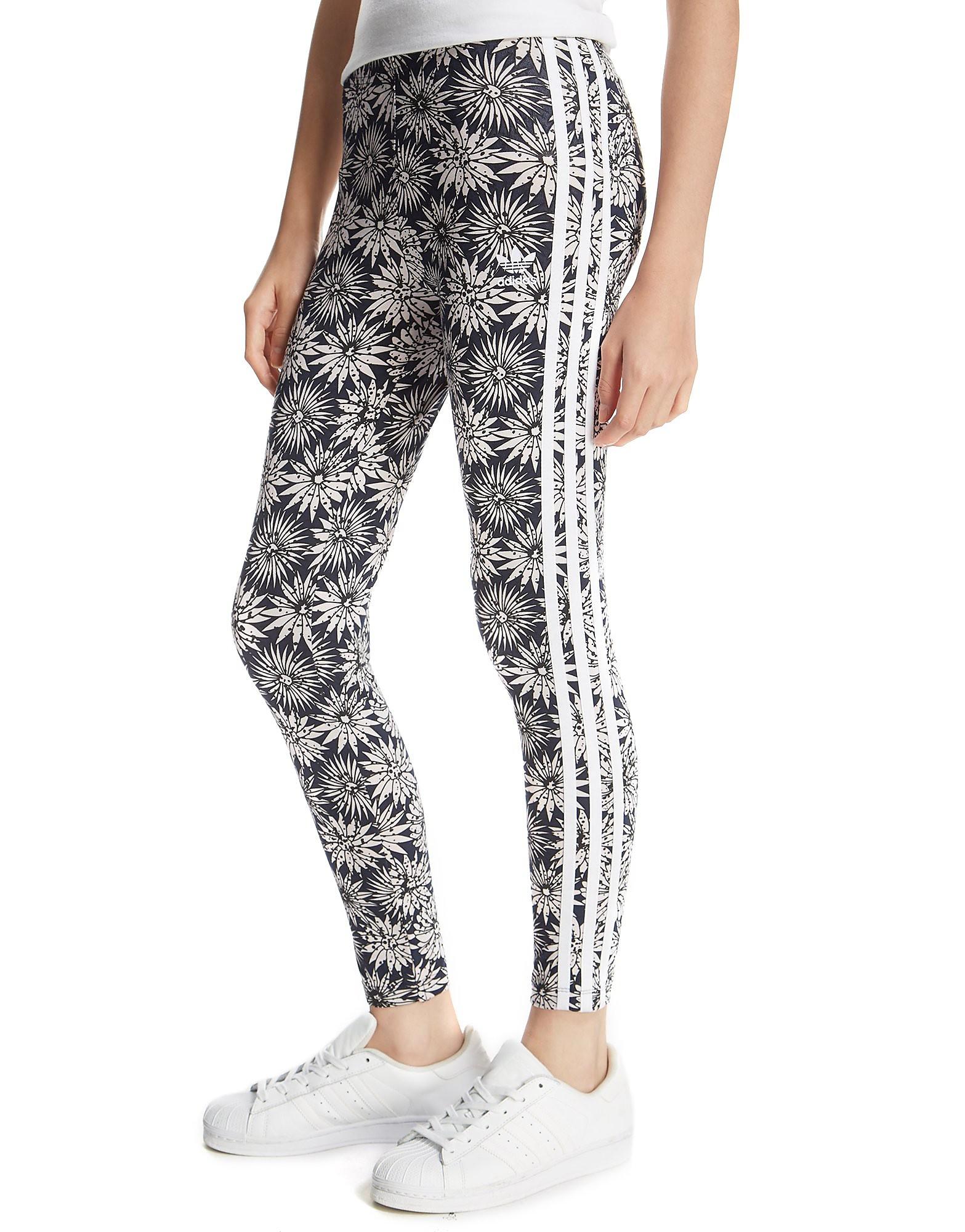 adidas Originals Girls' Daisy All-Over-Print Leggings Junior