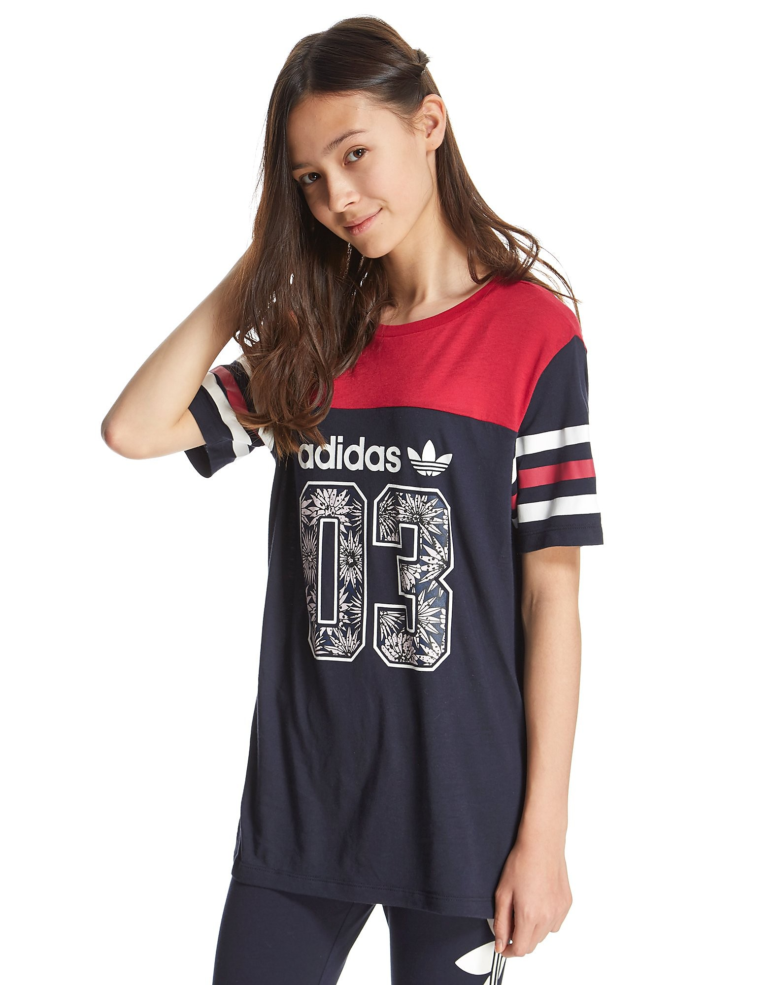 adidas Originals Girls' Colour Block T-Shirt Junior