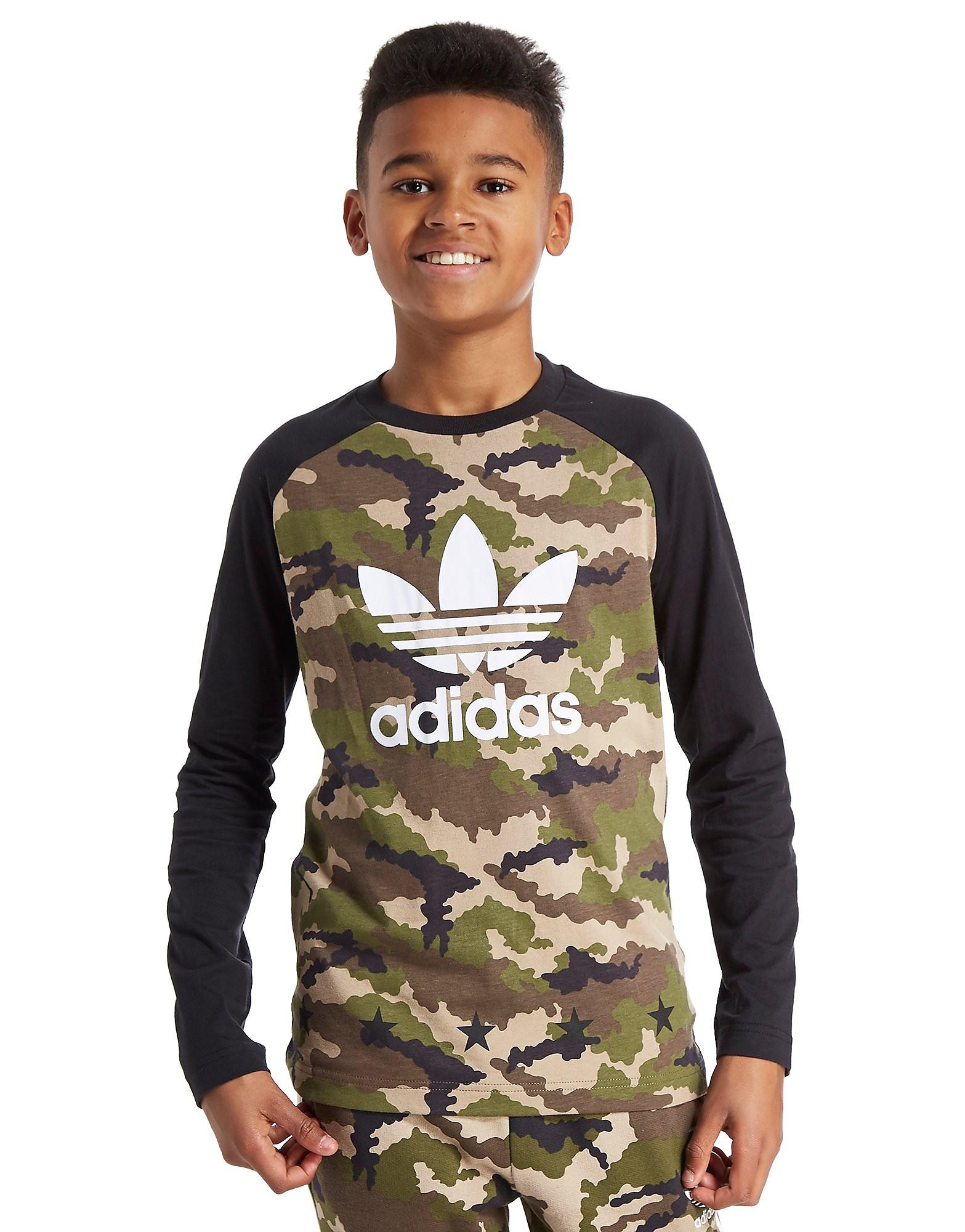 adidas Originals Camo Longsleeve T-Shirt Junior